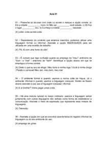 e0cfaccb9e1 Questões Aula 01 a 05 Língua Portuguesa - Língua Portuguesa - 10