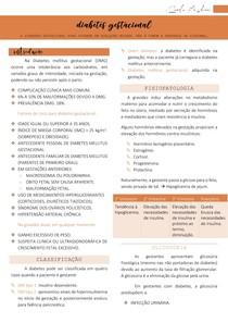 Diabetes mellitus gestacional (classificação, fisiopatologia, diagnóstico e tratamento)