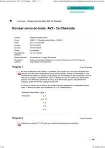 AV2 - Mecanicas do solidos Uninassau