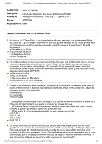Avaliação I - Individual ( Cod676271) ( peso1,50)