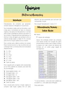 RESUMO DE HIDROCARBONETOS