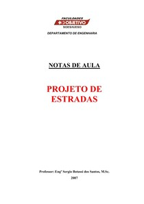 Projeto de Estradas - Volume Único