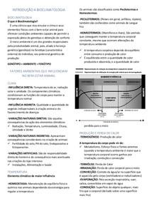 Introdução a Bioclimatologia