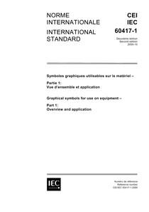 IEC 60417-1 - Símbolos Gráficos para instalações Elétricas