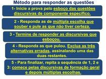 MÉTODO PARA RESPONDER AS QUESTÕES DO ENADE