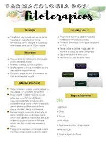 FARMACOLOGIA DOS FITOTERAPICOS RESUMO (1)