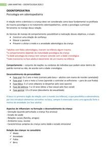 ODONTOPEDIATRIA - pscicologia infantil