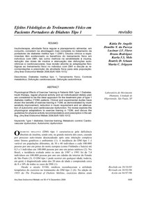 Efeitos Fisiológicos do Treinamento Físico em Diabeticos