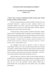 Atividade Estruturada Direito Econômico