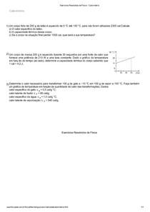Calorimetria Exercícios Resolvidos (1)