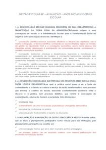 AVALIAÇÃO GESTÃO ESCOLAR IBF