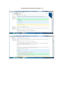Administração de sistema de informação