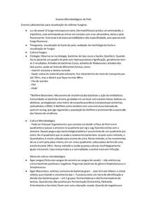 Exames Microbiológicos de Pele