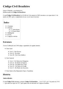 Código Civil Brasileiro – Wikipédia  a enciclopédia livre