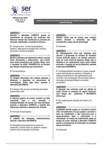 FARMACOLOGIA APLICADA À NUTRIÇÃO E INTERPRETAÇÃO DE EXAMES LABORATORIAIS  D