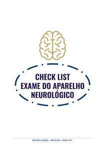 CHECKLIST- EXAME NEUROLOGICO