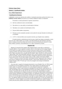 Conteúdo - Classificação Periódica