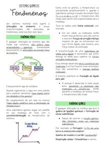 Fenômenos - Sistemas Materiais