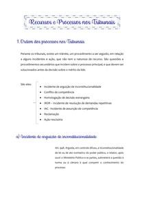 Recursos e Processos nos Tribunais - processo civil