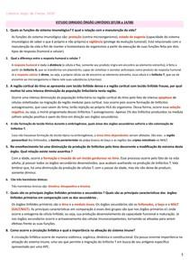 LISTA 1 - exercícios imunologia