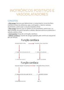 Inotrópicos positivos e vasodilatadores