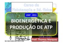 Bioenergetica e producao de ATP
