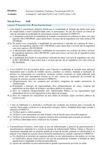 AVA II - Processos Licitatórios, Contratos e Terceirização