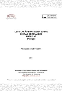LEGISLAÇÃO BRASILEIRA SOBRE FINANÇAS PÚBLICAS