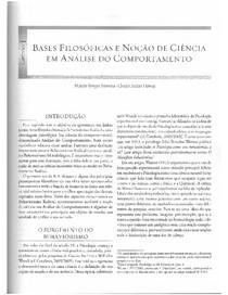 2e5e134ef 3 HUBNER & MOREIRA 2012 Fundamentos de Psicologia Sob a otica da Analise do  Comportamento Cap