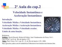 AuladoCap02 -  Velocidade Aceleracao Instantanea - Prof° Dulceval 2015