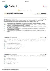 BDQ 01 linguagem de programação I