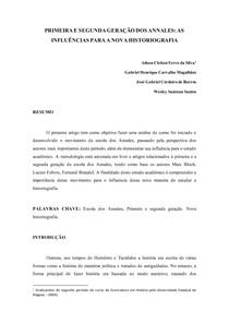 ARTIGO - PRIMEIRA E SEGUNDA GERAÇÃO DOS ANNALES