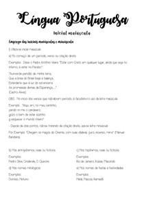 Língua Portuguesa - Inicial maiúscula