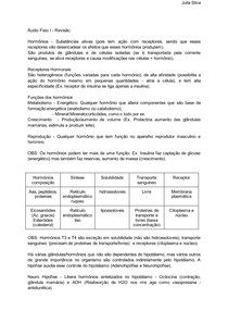 Revisão Fisiologia - Sistema Endócrino