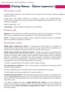 Fisiologia Humana - Sistema tegumentar docx