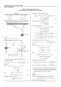 Exercícios Leis de Newton resolvidos