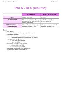 Suporte básico de vida Pediatria (resumo)