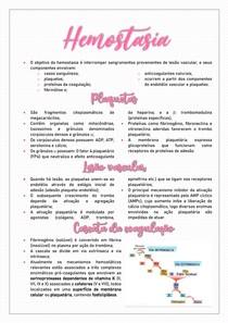 Hemostasia - Resumo Hematologia