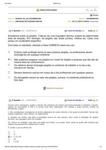 Avaliando aprendizado - língua portuguesa aula 9
