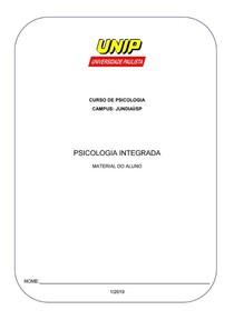 APOSTILA PSICOLOGIA INTEGRADA 2019