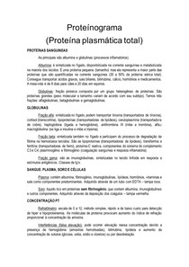 Proteínograma - Proteína plasmática total