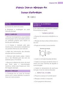 PQM - Preparo químico-mecânico - Resumo