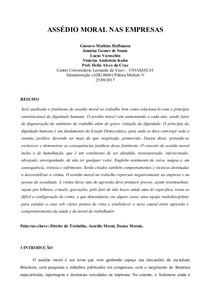 PAPER ASSEDIO MORAL NAS EMPRESAS