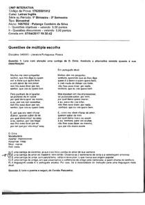 avaliacao-prova-letras-ingles-unip-literatura-portuguesa-poesia