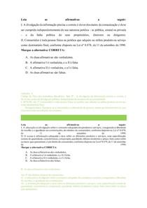 10 QUESTÕES OAB SOBRE DIREITO DO CONSUMIDOR