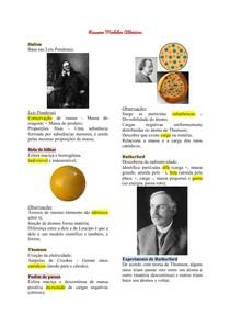 Resumo Modelos Atômicos