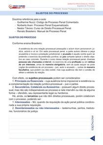 APOSTILA - SUJEITO DO PROCESSO PENAL