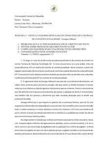 Resumo O controle de constitucionalidade das leis no Brasil como um sistema plural