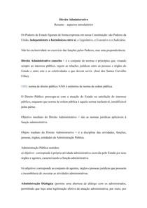 Direito Administrativo - Aspectos Introdutórios
