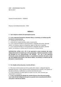 DP - Processo Civil Ord-Sum